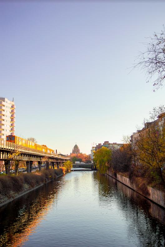 river spree berlin sunset autumn