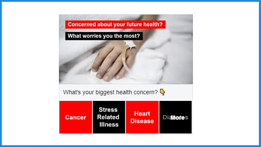 collection ad facebook ad hack worried about your health hand quiz