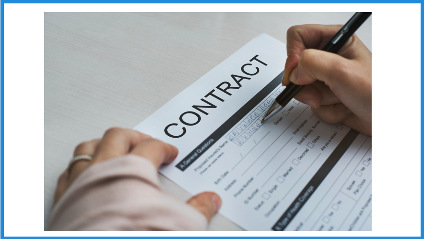 signed contract closing a sale hands pen contract