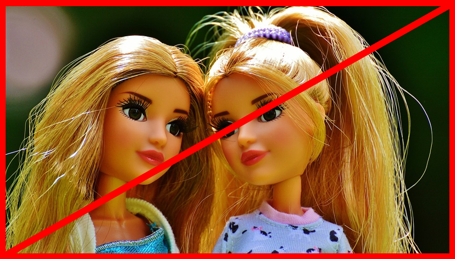 exclude-lookalikes-red-cross-barbie-dolls-twins